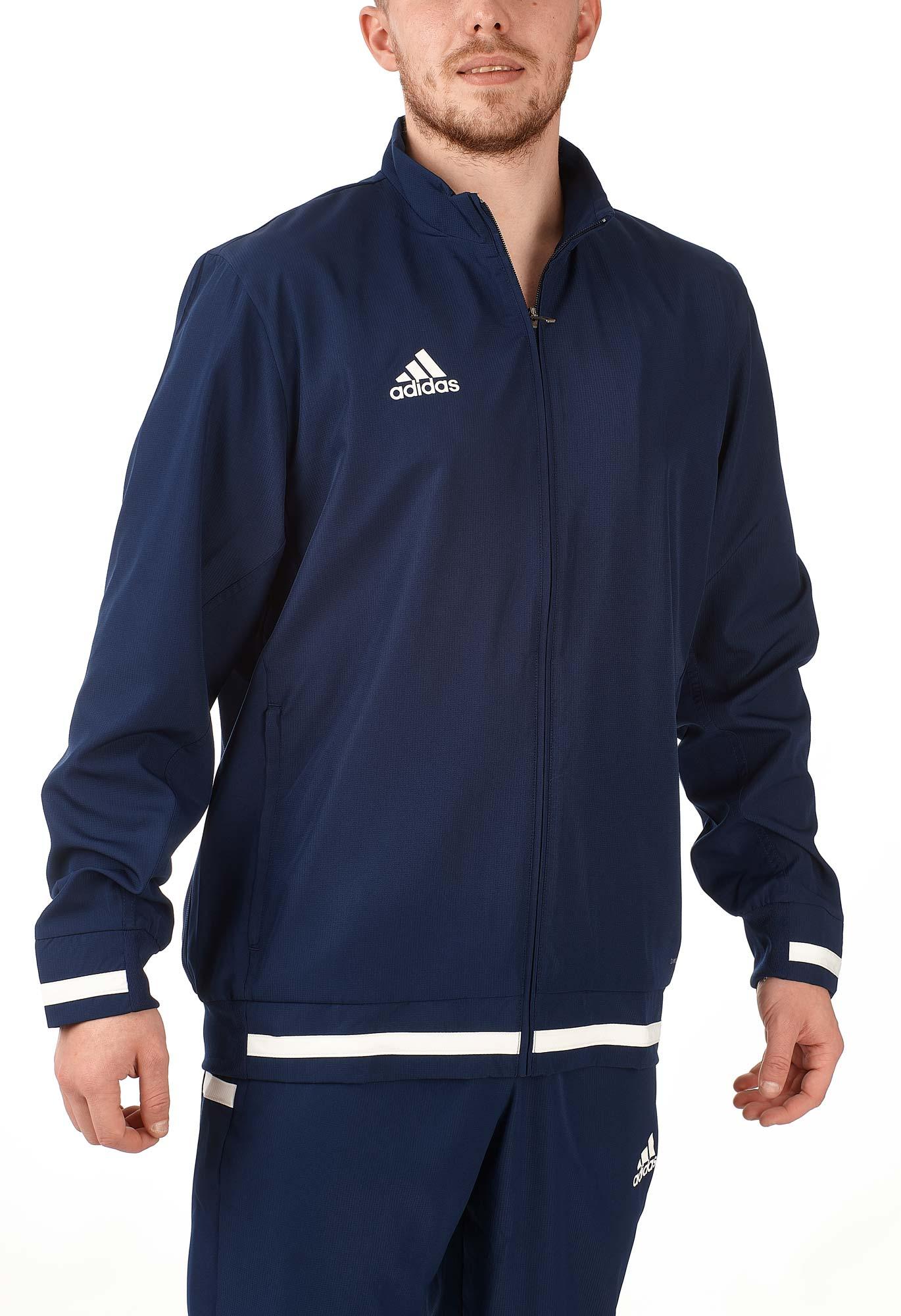 adidas T19 Woven Jacket Männer blauweiß, DY8801