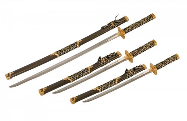Zierschwerter schwarz/gold