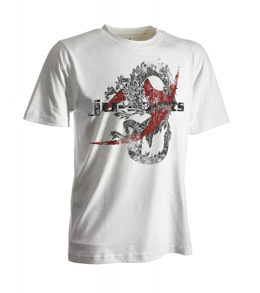 Dark-Line T-Shirt Dragon weiß