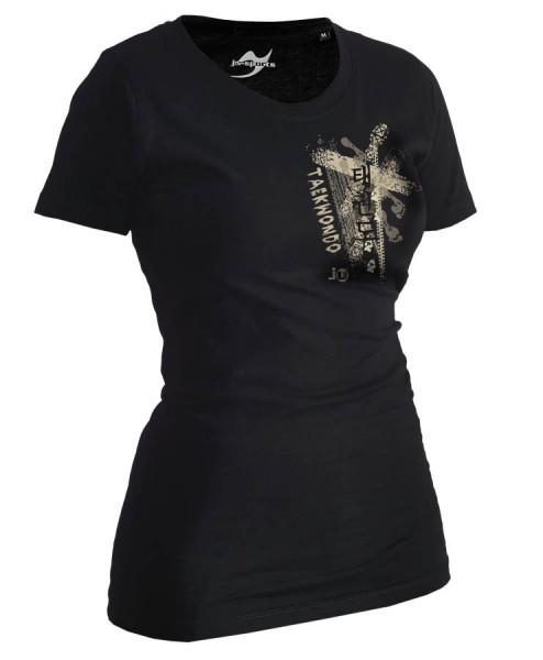 Taekwondo-Shirt Trace schwarz Lady