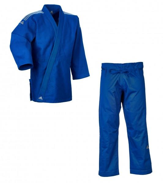 """adidas Judo-Anzug """"Contest"""" blau/silberne Streifen, J650B"""
