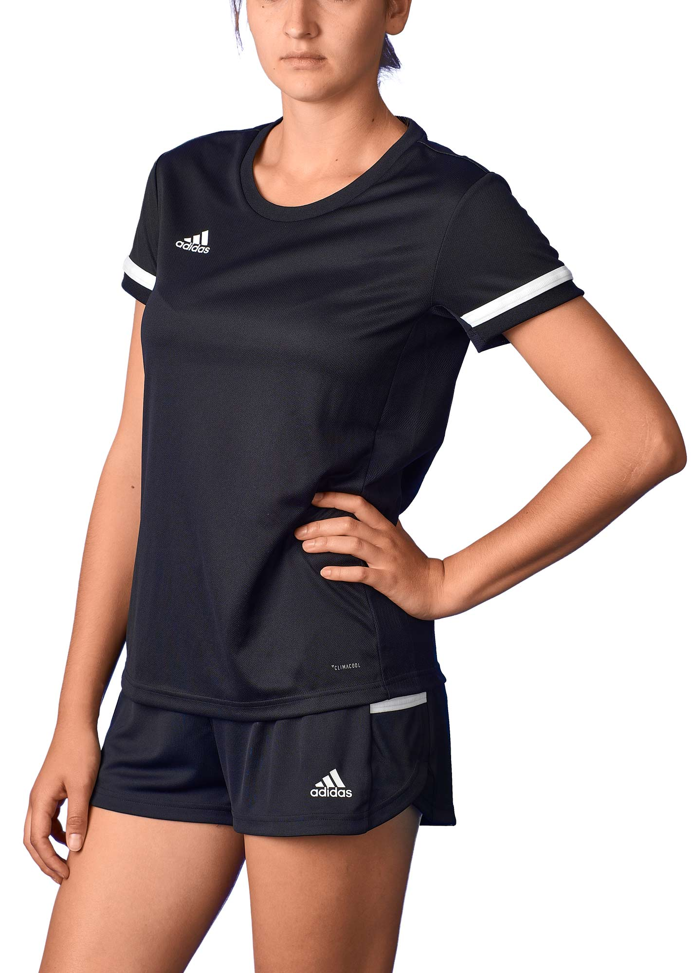 adidas T19 Shortsleeve Jersey Damen schwarzweiß, DW6886