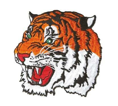 Patch Tigerkopf groß