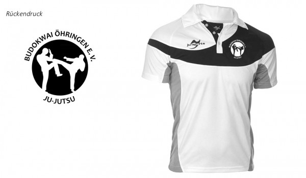 Teamwear Element C1 Polo weiß Budokwai Öhringen Vereinsedition