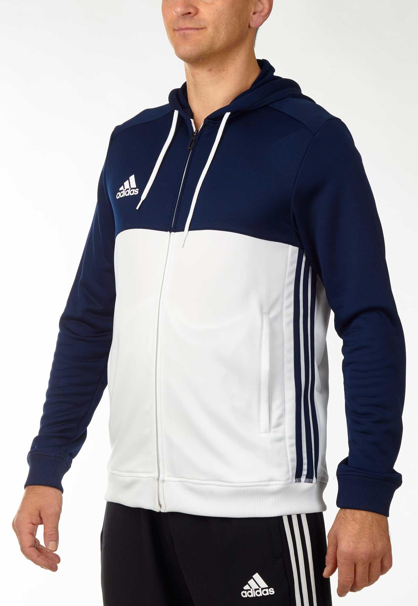 Abverkauf Adidas T16 Team Hoodie Damen Schwarz Weiss AJ5404