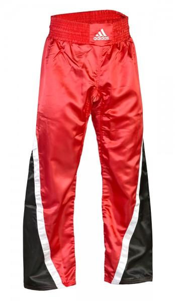 adidas Kickboxhose Team schwarz/rot/weiß ADITU04