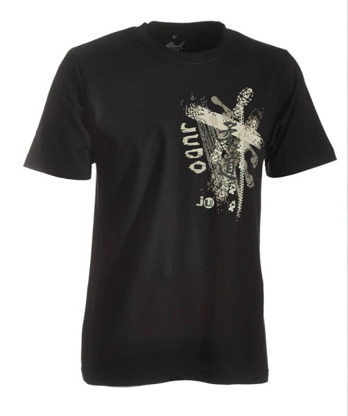 Judo-Shirt Trace schwarz