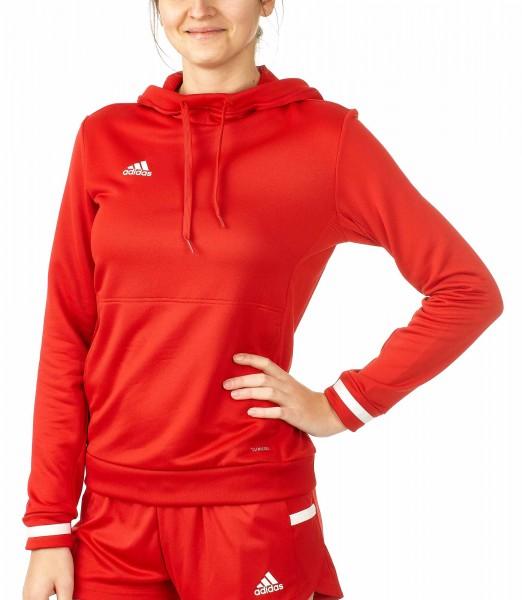 adidas T19 Hoodie Damen rot/weiß, DX7338