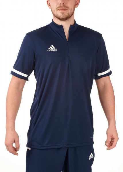 adidas T19 1/4 Shortsleeve Männer blau/weiß, DY8848