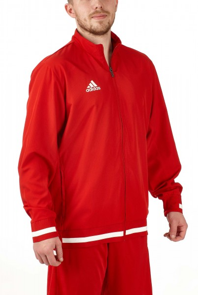 adidas T19 Woven Jacket Männer rot/weiß, DX7344