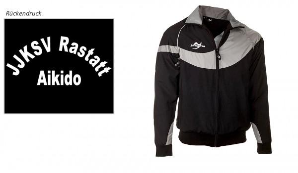 Teamwear Element C1 Jacke schwarz, JJKSV Rastatt, Vereinslogo Aikido