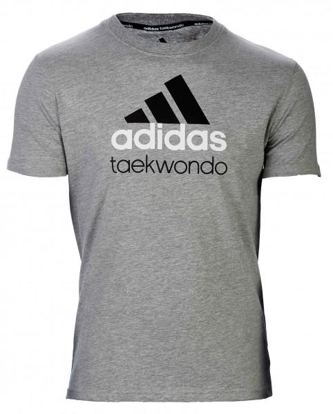 adidas Community line T-Shirt Taekwondo grau/schwarz