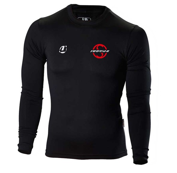 Compression Shirt langarm schwarz Arashi Vereinsedition