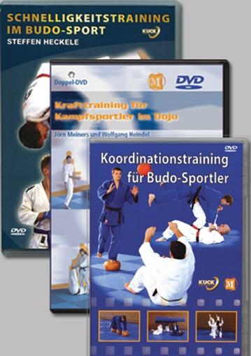 3er DVD Set: Krafttraining, Koordination, Schnelligkeitstraining für Budosportler