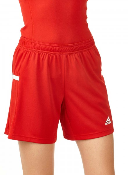 adidas T19 Knee Shorts Damen rotweiß, DX7296