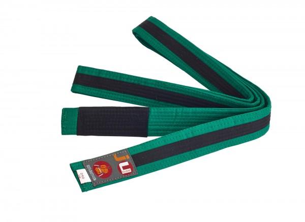 Bjj Kindergürtel grün mit schwarzem Streifen