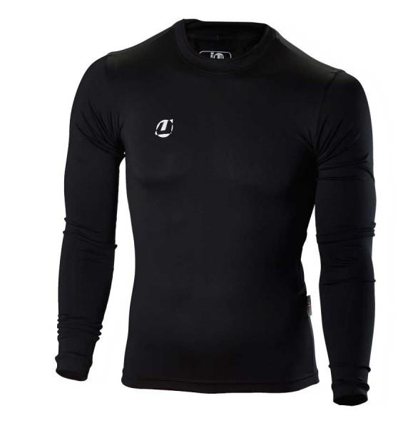 Compression Shirt langarm schwarz
