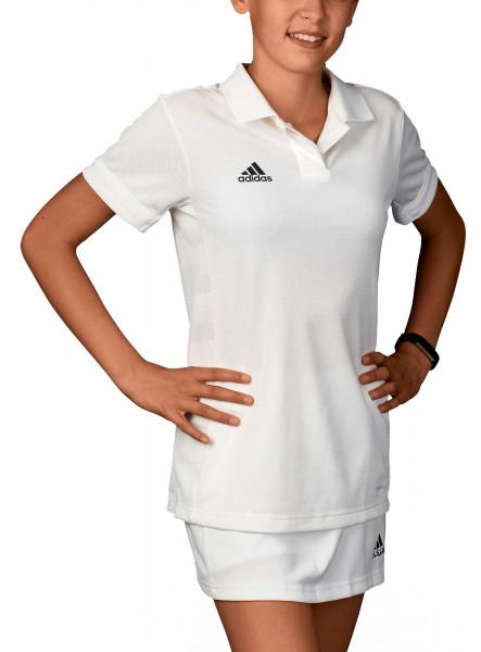 adidas T19 Polo Shirt Girls weiß, DW6873