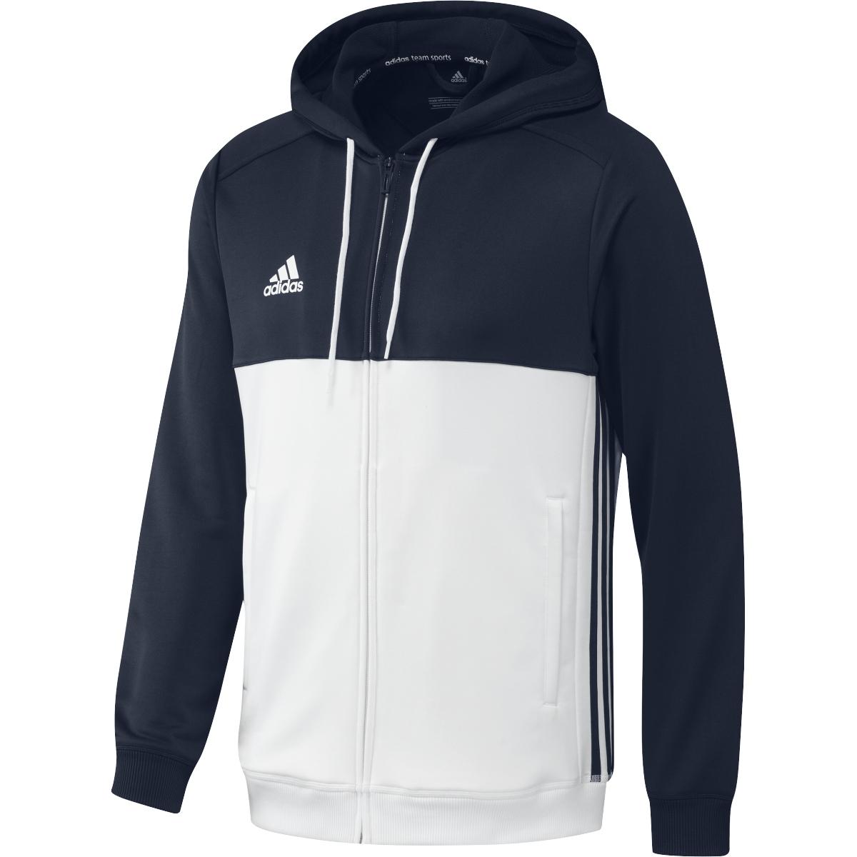 adidas Herren Zip Hoodie T16 Team in Navy Blau Weiss