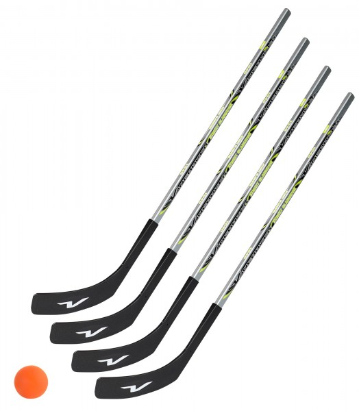 4 x Vancouver Streethockeyschläger 100 cm, Kids plus 1 Hockey-Ball