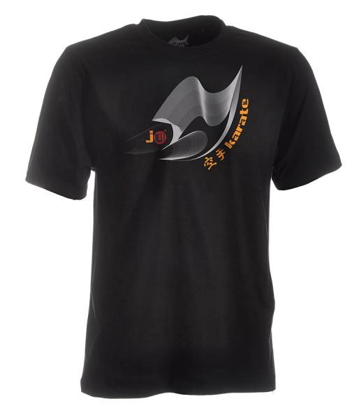 Karate-Shirt Moiré schwarz