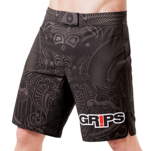 GR1PS Fight Shorts Warrior`s Instinct, black