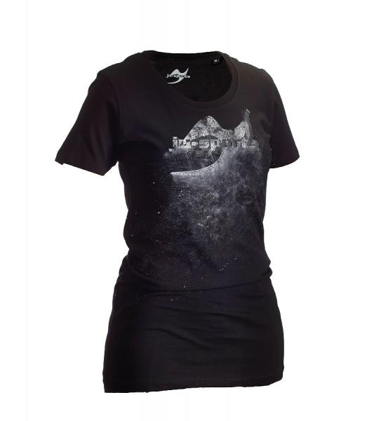 Dark-Line T-Shirt Jush Explosion schwarz-grau Lady