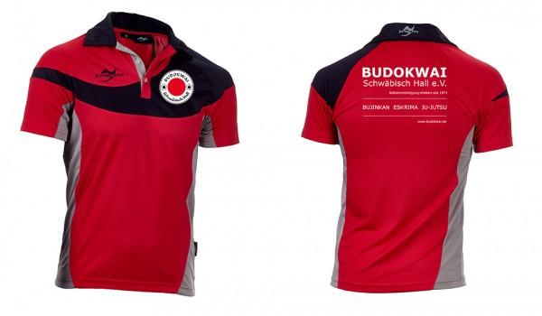 Teamwear Element C1 Polo rot, Budokwai Schwäbisch Hall e.V. Vereinsedition