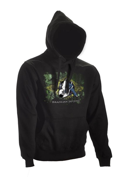 BJJ Hoodie Ground Warrior schwarz