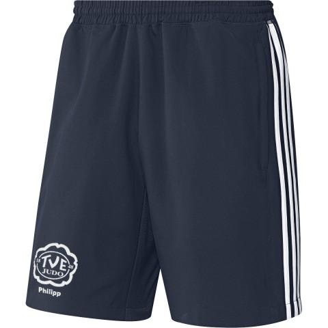 adidas TV Erlangen Judo mit Namensdruck T16 Clima Cool Woven Short Jungen navy blau/weiß AJ5286