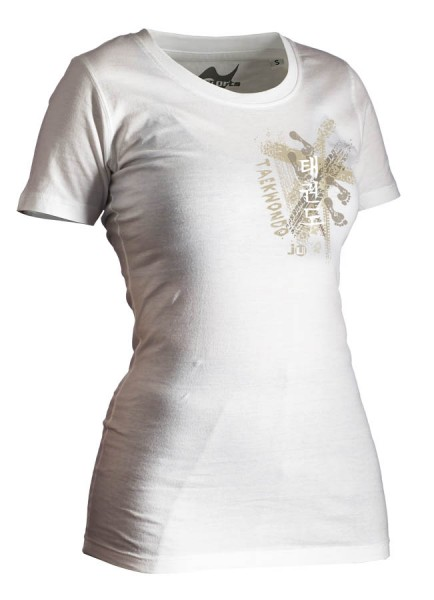 Taekwondo-Shirt Trace weiß Lady