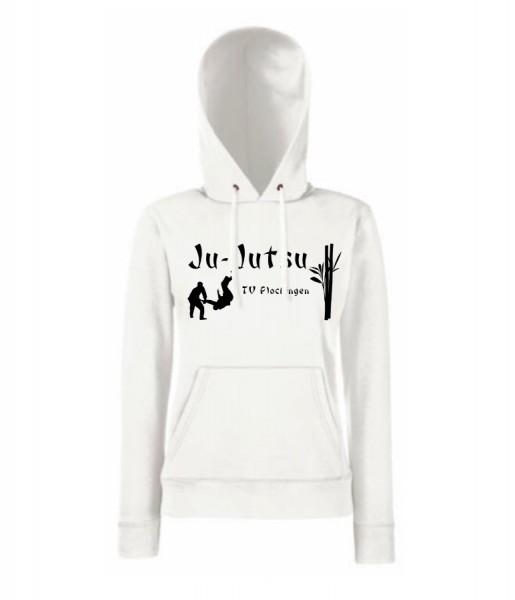 Ladies Classic Hooded Sweat, F409, TV Plochingen Ju-Jutsu, weiß