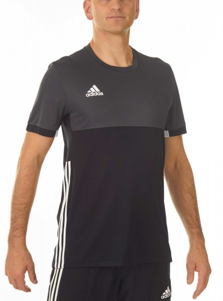 adidas T16 Clima Cool Tee Männer schwarz/grau AJ5444