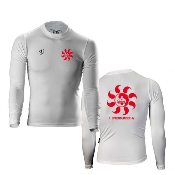 Sprendlinger JV Compression Shirt langarm weiß