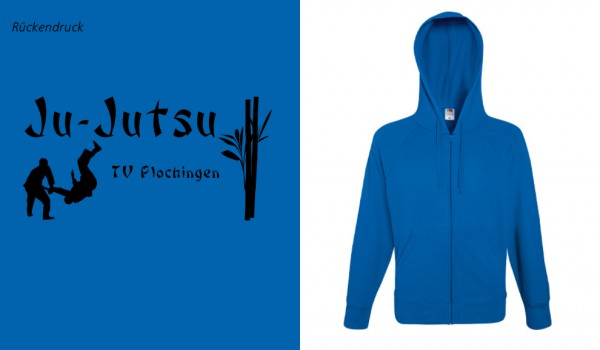 Lightweight Hooded Sweat Jacket, F407, TV Plochingen Ju-Jutsu, blau