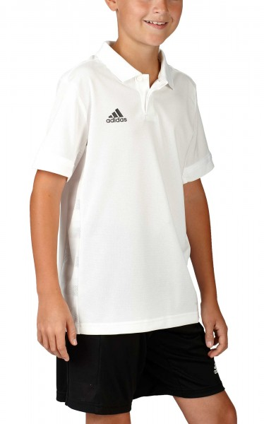 adidas T19 Polo Shirt Boys weiß, DW6875